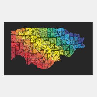 illinois color counties rectangular sticker