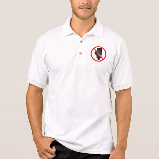 Illinois Cross Out Symbol Polo Shirt