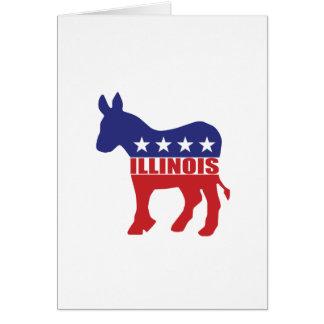 Illinois Democrat Donkey Greeting Card