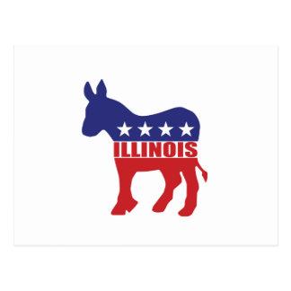 Illinois Democrat Donkey Postcard