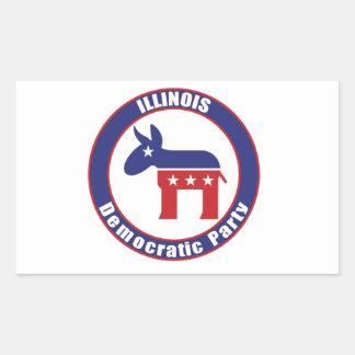 Illinois Democratic Party Rectangular Stickers