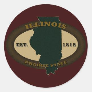 Illinois Est. 1818 Round Sticker