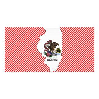 Illinois Flag Map Card