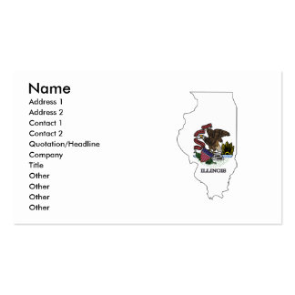Illinois Flag Map Pack Of Standard Business Cards