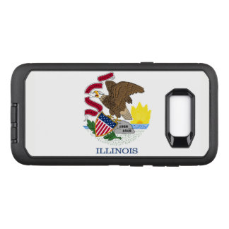 Illinois flag OtterBox defender samsung galaxy s8+ case