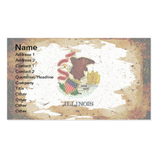 ILLINOIS FLAG PACK OF STANDARD BUSINESS CARDS