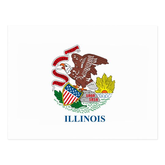 Illinois Flag Postcard
