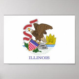 Illinois Flag Print