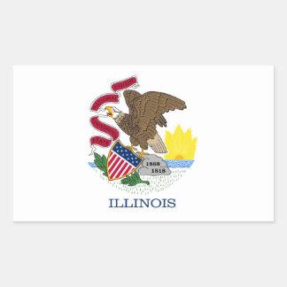 Illinois Flag Rectangular Stickers