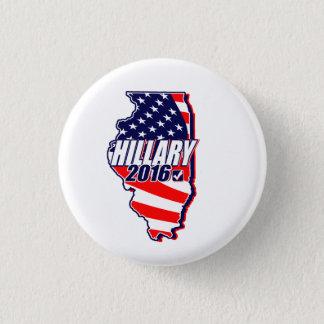 Illinois for Hillary 2016 3 Cm Round Badge