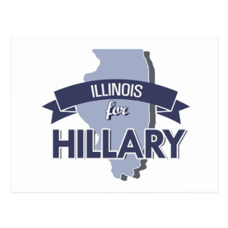 ILLINOIS FOR HILLARY -.png Postcard
