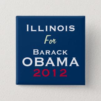 ILLINOIS For OBAMA 2012 Campaign Button