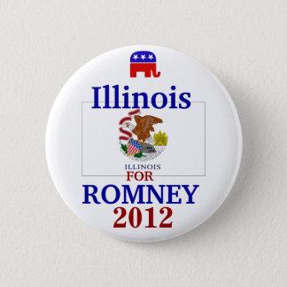 Illinois  for Romney 2012 6 Cm Round Badge