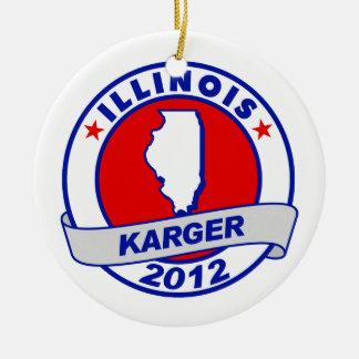 Illinois Fred Karger Christmas Tree Ornament