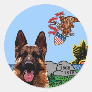 Illinois German Shepherd Sticker
