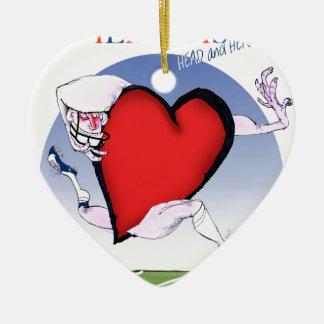 illinois head heart, tony fernandes ceramic heart decoration
