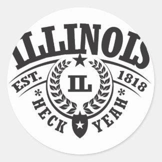 Illinois Heck Yeah Est 1818 Stickers
