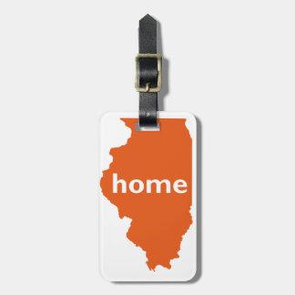 Illinois Home Luggage Tag
