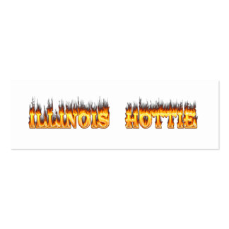Illinois Hottie fire and flames Pack Of Skinny Business Cards
