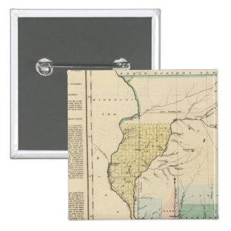 Illinois in 1822 15 cm square badge