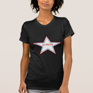 Illinois in a star. tee shirts