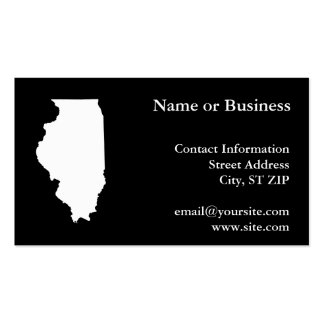Illinois in White and Black Pack Of Standard Business Cards
