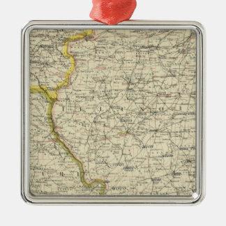 Illinois, Indiana, Iowa, Missouri Christmas Ornament