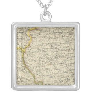 Illinois, Indiana, Iowa, Missouri Silver Plated Necklace