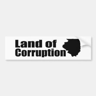Illinois: Land of Corruption Bumper Sticker