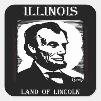 Illinois Land of Lincoln Square Sticker