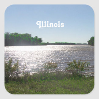 Illinois Landscape Square Sticker
