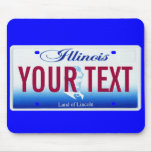Illinois license plate mouse pad