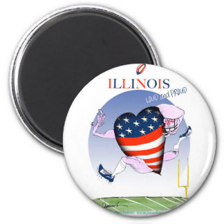 illinois loud and proud, tony fernandes 6 cm round magnet