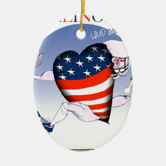 illinois loud and proud, tony fernandes christmas ornament