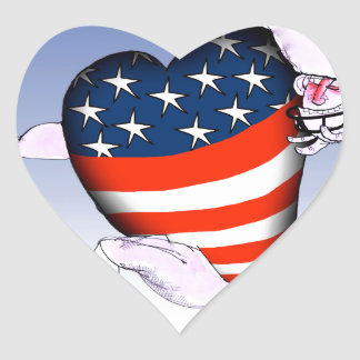 illinois loud and proud, tony fernandes heart sticker