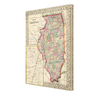 Illinois Map by Mitchell Canvas Print