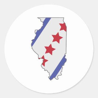 Illinois Map Classic Round Sticker