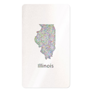 Illinois map pack of standard business cards