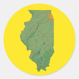 Illinois Map Sticker