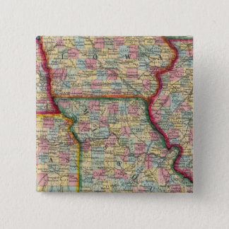 Illinois, Missouri, Iowa, Nebraska And Kansas 15 Cm Square Badge
