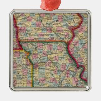 Illinois, Missouri, Iowa, Nebraska And Kansas Christmas Ornament