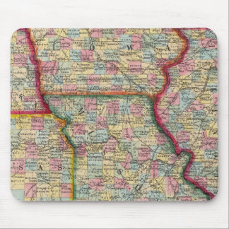 Illinois, Missouri, Iowa, Nebraska And Kansas Mouse Mat