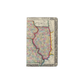 Illinois, Missouri, Iowa, Nebraska And Kansas Pocket Moleskine Notebook