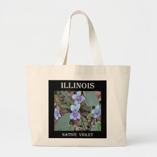 Illinois Native Violet Large Tote Bag