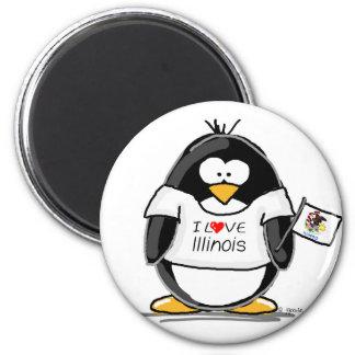 Illinois Penguin Magnet