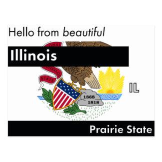 Illinois Prairie State Postcard