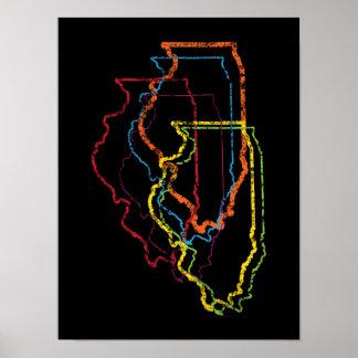 illinois pride blur poster