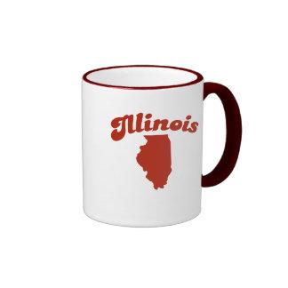 ILLINOIS Red State Ringer Mug