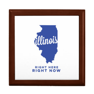 illinois | right here, right now | blue large square gift box