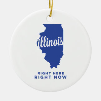 illinois | right here, right now | blue round ceramic decoration